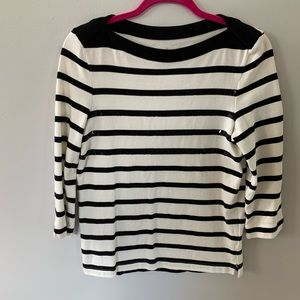 Kate Spade striped sequin long sleeved top